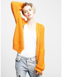 Wool And The Gang | Orange Vivienne Cardigan | Lyst