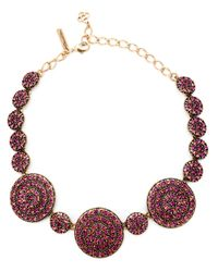 Oscar de la Renta | Purple Swarovski Crystal Necklace | Lyst