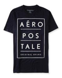 Aéropostale | Black Original Brand Stacked Logo Graphic T for Men | Lyst