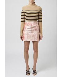 TOPSHOP - Pink Mayal Mini Skirt By Unique - Lyst