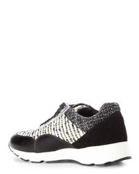 J/Slides | Black & White Jogger Tweed Sneakers | Lyst