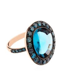 Annoushka - Blue Dusty Diamonds Topaz Ring - Lyst