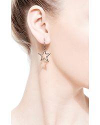 Rosa De La Cruz - Metallic Diamond Star Earrings - Lyst