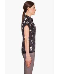Surface To Air | Black Silk Printed Shirt | Lyst