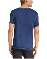 BOSS Orange - Blue T-shirt 'timblin 4' With A Round Neckline for Men - Lyst