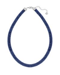 Swarovski | Blue Stardust Crystal Necklace for Men | Lyst