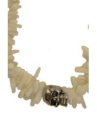 Duchess Of Malfi - White Coral Shell Skull Bracelet - Lyst