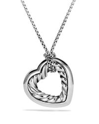 David Yurman | Metallic Cable Heart Medium Pendant With Gold On Chain | Lyst