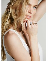 Free People | Blue Marly Moretti Womens Open Crescent Ring | Lyst