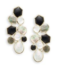 Ippolita - Metallic Polished Rock Candy Onyx, Shell, Mother-of-pearl & 18k Yellow Gold Mosaic Earrings - Lyst