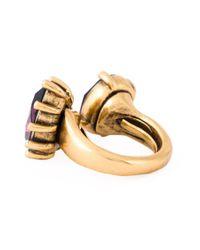 Oscar de la Renta - Multicolor Pear And Oval Shape Stone Ring - Lyst