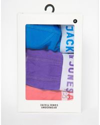 Jack & Jones | Multicolor 3 Pack Trunks for Men | Lyst