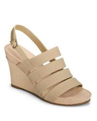 Aerosoles | Natural Picture Plus Wedge Sandals | Lyst