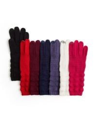 Echo - Red Knit Touch Gloves - Lyst