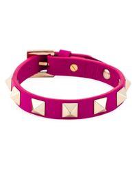 Valentino | Pink 'rockstud' Bracelet | Lyst