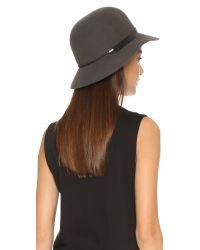 Rag & Bone - Gray Faye Cloche Hat - Lyst