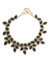 Lele Sadoughi | Palm Leaf Necklace, Atlantic Blue | Lyst