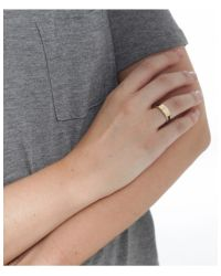 Marc Jacobs - Black Engraved Hinge Ring - Lyst