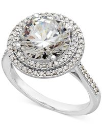 Arabella | Metallic Sterling Silver White Swarovski Zirconia Ring (7-3/8 Ct. T.w.) | Lyst