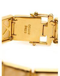 Eddie Borgo | Metallic Large Gemstone Pyramid Bracelet | Lyst