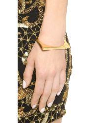 Michael Kors - Metallic Asymmetrical Hinge Bangle Bracelet - Gold - Lyst