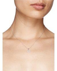 Khai Khai - Metallic 'at @' Diamond Pendant Necklace - Lyst