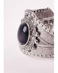 Missguided - Western Cuff Black/silver - Lyst