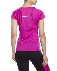 New Balance - Purple Accelerate Performance Tee - Lyst