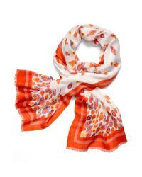 Tory Burch   White Printed Heart Scarf   Lyst