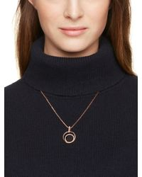 kate spade new york - Pink In The Spotlight Mini Pendant - Lyst