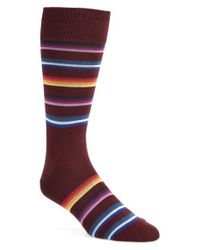 Paul Smith | Red 'modograde' Stripe Socks for Men | Lyst
