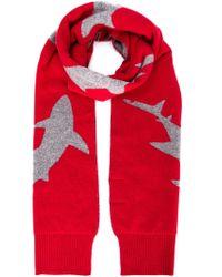 Christopher Raeburn | Red Shark Intarsia Scarf for Men | Lyst