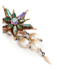 Erickson Beamon - Multicolor Iron Butterfly' Floral Crystal Glass Pearl Earrings - Lyst
