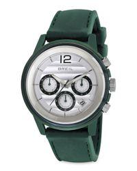 Breil - Green Orchestra Silicon Strap Chronograph Watch - Lyst