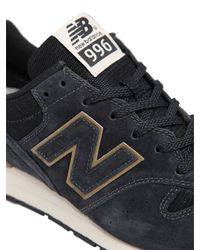 New Balance - Blue 996 Mesh & Suede Sneakers - Lyst