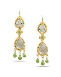 Emma Chapman Jewels - White Green Amethyst Chandelier Drop Earrings - Lyst