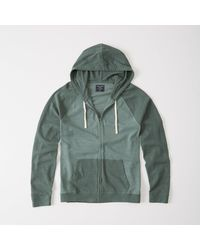 Abercrombie & Fitch | Green Colorblock Full-zip Hoodie for Men | Lyst