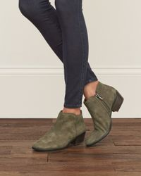 Abercrombie & Fitch - Green Sam Edelman Petty Bootie - Lyst