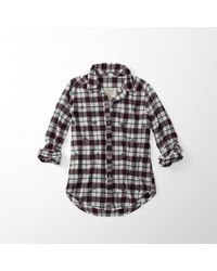 Abercrombie & Fitch - Multicolor Embellished Flannel Button-up Shirt for Men - Lyst
