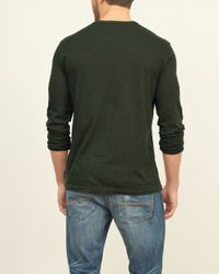 Abercrombie & Fitch - Green Long-sleeve Crew Tee for Men - Lyst