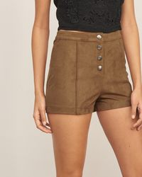 Abercrombie & Fitch - Brown Faux Suede Short - Lyst