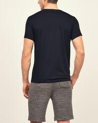 Abercrombie & Fitch - Black Icon V Neck Tee for Men - Lyst