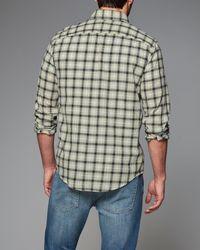 Abercrombie & Fitch   Black Plaid Gauze Shirt for Men   Lyst