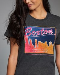 Abercrombie & Fitch - Gray Destination Graphic Tee - Lyst