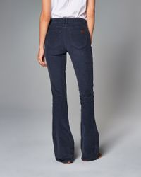 Abercrombie & Fitch - Blue Skinny Flare Corduroy Pants - Lyst