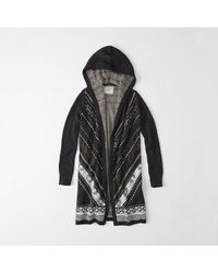 Abercrombie & Fitch | Gray Pattern Duster Cardigan | Lyst