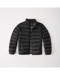 Abercrombie & Fitch - Black Lightweight Puffer for Men - Lyst
