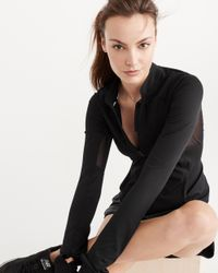 Abercrombie & Fitch - Black Active Mesh Piece Full Zip - Lyst