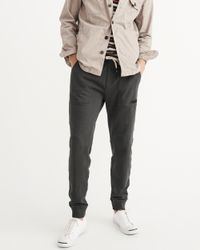 Abercrombie & Fitch - Gray Utility Joggers for Men - Lyst