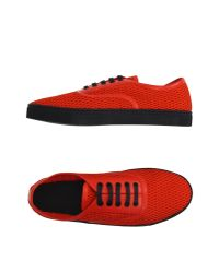 Alexander Wang - Red Low-tops & Trainers - Lyst